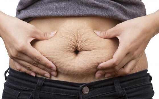 relâchement peau de l'abdomen